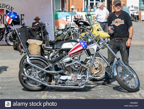 Custom Easy Rider Harley Davidson Chopper Motorcycle At
