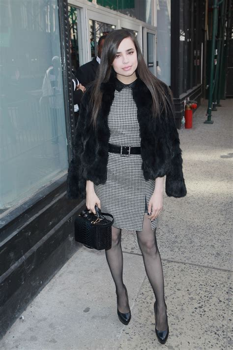sofia carson chic outfit aol build studios  nyc