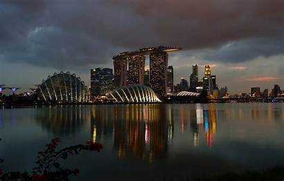 Sands Marina Bay Casino Singapore Night вконтакте