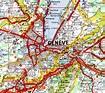 Geneva Map and Geneva Satellite Image