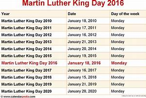 When is Martin Luther King Day 2016 & 2017? Dates of ...