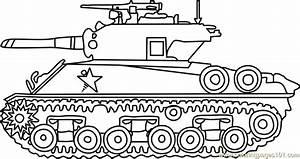 M4 Sherman Army Tank Coloring Page - Free Tanks Coloring ...
