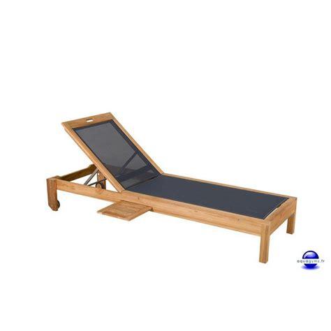 chaise longue teck pas cher transat teck mundu fr