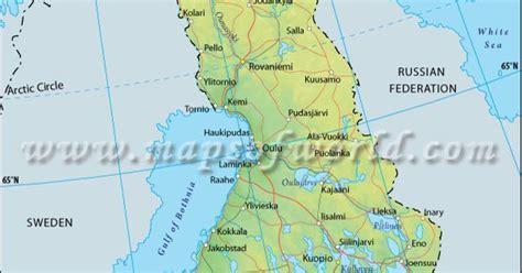 finland latitude  longitude map maps