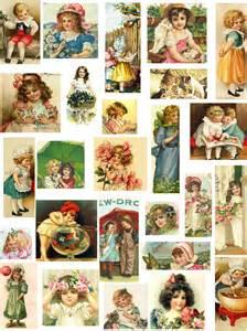 Decoupage Paper Vintage Children