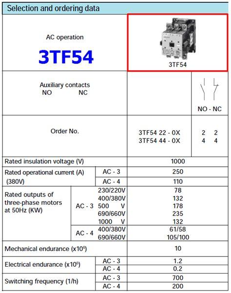 wiring diagram contactor siemens datasheet 3tf54 datasheet power contactor siemens