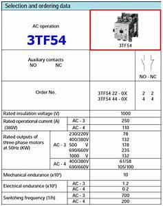 3tf54 Datasheet - Power Contactor