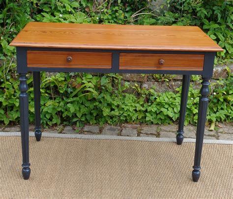 bureau peint bureau ancien bois peint 2 tiroirs pieds noirs