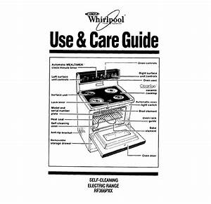 Whirlpool Range Rf366pxx User Guide