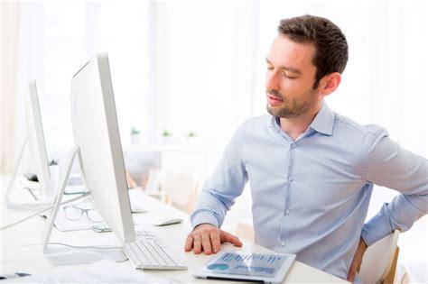 back pain from sitting at desk ergonomics and degenerative disc disease