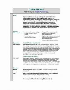 Sample Teacher Resume Templates Resume Outline The Structure Of A Winning Resume Easyjob