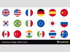 Countrys Flags +260 free icons SVG, EPS, PSD, PNG files