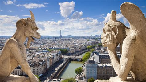 full hd wallpaper gargoyle paris top view desktop