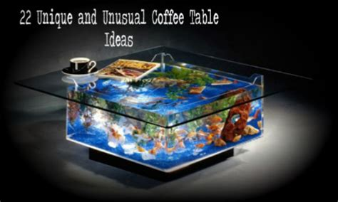 The rustic coffee table on wheels is an adorable addition to your space. 22 Unique and Unusual Coffee Tables - Home And Gardening Ideas