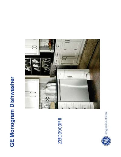 service manual general electric zbdrii ge monogram dishwasher service manual zbdrii ge