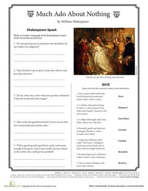 much ado about nothing modern text best 25 worksheets ideas on homeschool worksheets grade 1 math worksheets