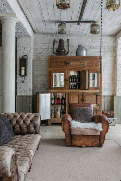 b home interiors get an industrial style home by exposed brick walls