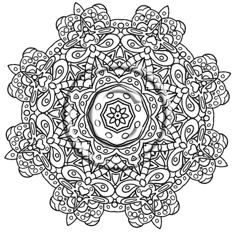 intricate flower coloring pages coloring home