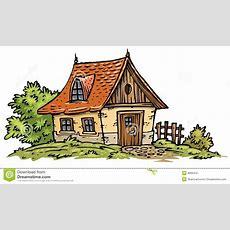 Alte Häuschen Klippkunst Lizenzfreies Stockfoto Bild