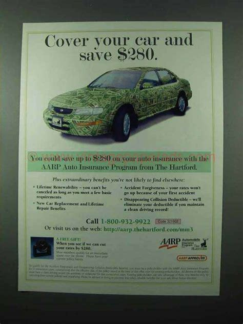 Power reports above average reviews from customers in claims satisfaction and service experience. 2002 AARP The Hartford Auto Insurance Ad - Cover Car