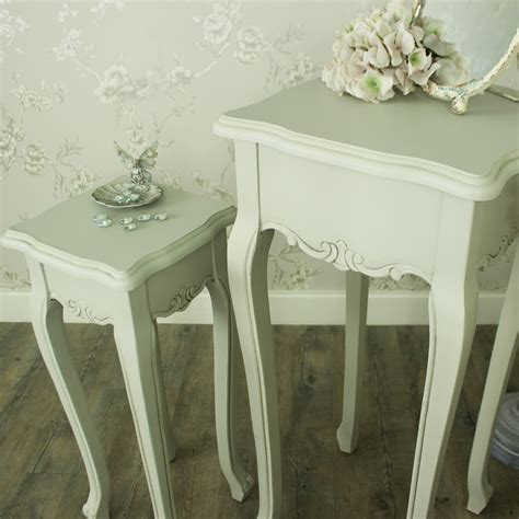 set of two table ls elise grey range set of two plant tables melody maison