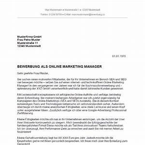 Bewerbung Online Anschreiben : bewerbung als online marketing manager online marketing managerin ~ Yasmunasinghe.com Haus und Dekorationen