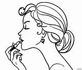 Coloring Pages Makeup Barbie Sheets Face Printable Drawing Adult sketch template