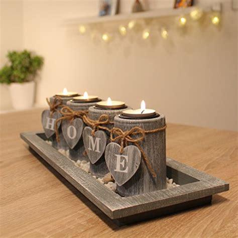 Weihnachtsdeko Landhaus Aussen by Teelichthalter Set Holz Tablett Landhaus Tischdekoration