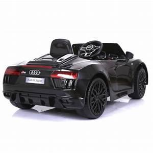 Audi R8 Enfant : 12 volts mini audi spider r8 s tronic voiture electrique pour enfant noir ~ Melissatoandfro.com Idées de Décoration