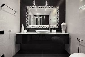 Thin black framed mirror bathroom mirrors home depot for Kitchen cabinets lowes with sf giants wall art