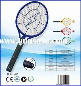 Handheld Electronic Bug Zapper Tennis Racket Flyswatter For Sale