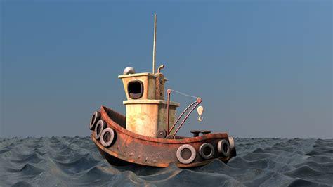 Cartoon Boat C4d by Cartoon Boat C4d