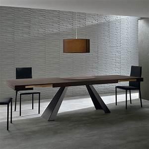 table extensible de salle a manger de design moderne carlos With salle a manger design moderne