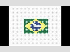 Hama Bead Brazilian Flag Flag Series #13 YouTube