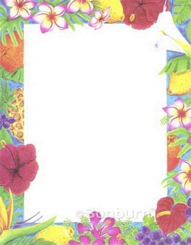 tropical stationery template free printable backgrounds stationery luau printable