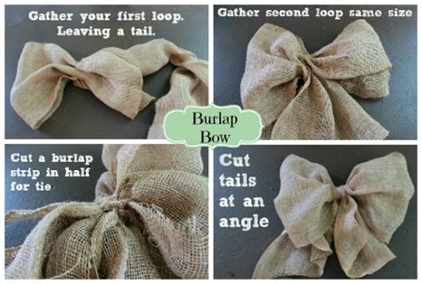 hometalk making  burlap bow