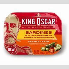 King Oscar Double Layer Sardines In Olive Oil With Hot