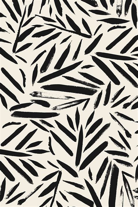 Abstract Black And White Wallpaper Pattern by Not So Black And White Leaves By Crystal Walen And