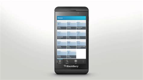 filemanager for blackberry z10 file manager blackberry z10 official how to demo youtube
