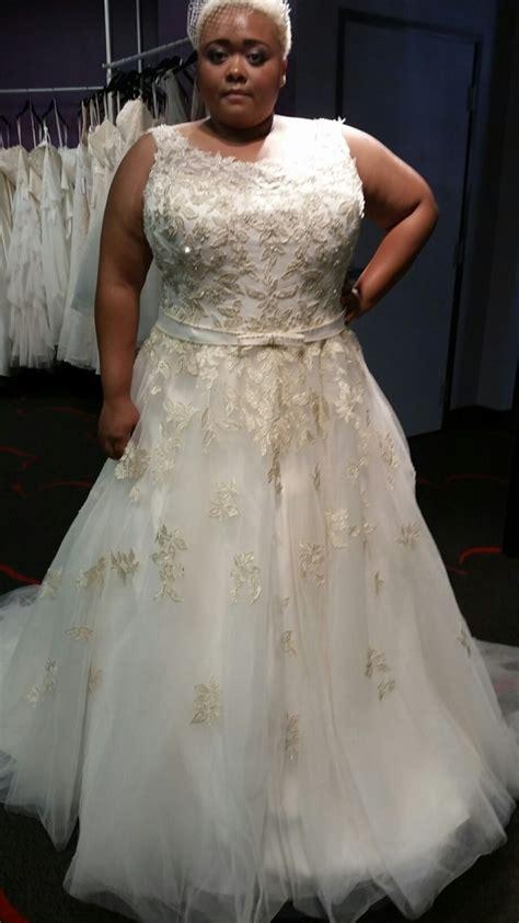 gold ball gown wedding dress