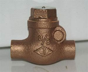 3  8 U0026quot  Swing Check Valve 200  Cwp Bronze  Sweat Jenkins New