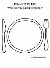 Plate Coloring Dinner Pages Thanksgiving Worksheets Preschool Steak Draw Drawing Printable License Plates Doodle Template Worksheet Happy Crafts Bestcoloringpagesforkids Sheets sketch template