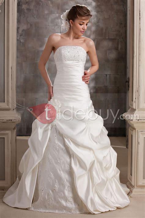 elegant strapless floor length darias mermaid wedding