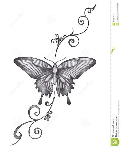 art butterfly tattoo stock illustration illustration