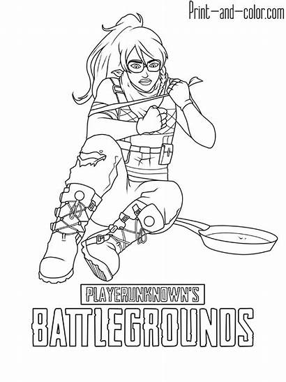Coloring Pages Pubg Battlegrounds Printable Playerunknown Colouring