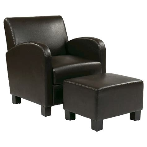 Office Chair Ottoman by Faux Leather Club Chair With Ottoman Espresso Office