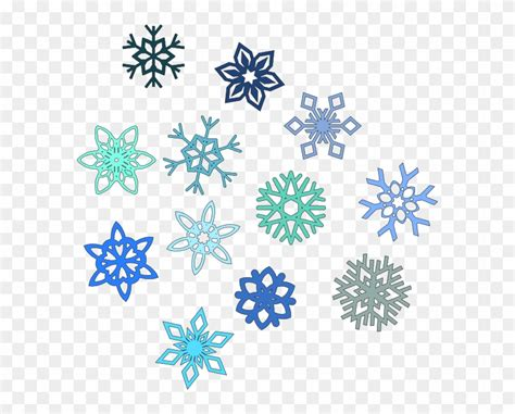 Blue Snowflake Background Clipart by Animated Snowflake Clip Transparent Background