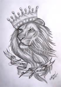 Lion with Crown Tattoo Designs