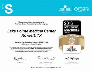 Lake Pointe Medical Center Receives Get With The ...