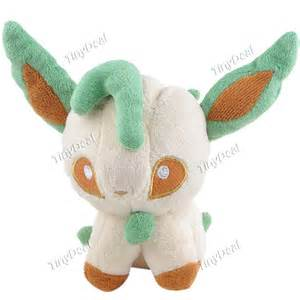 Cute Pokemon Style Leafeon Plush Doll Toy Plaything Desktop Display for Collection Decoration FAA-66343